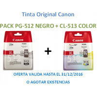 Pack Tinta Original Canon PG-512 Negro + CL-513 Color